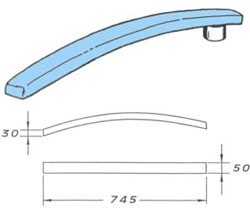 rukávník tvarovaný 745x50x30mm
