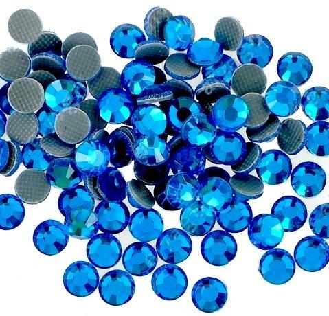 4mm nalepovací kameny broušené capri blue = modrá