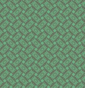 látka heather true colors-picnic daisy-turquoi100%bavlna/110cm šíře/rowan