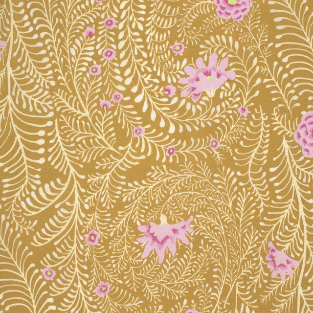 látka fall 2014-ferns-yellow 100%bavlna                     110cm šíře, rowan