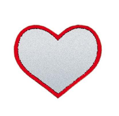 reflexní nažehlovačka srdce 40x40mm