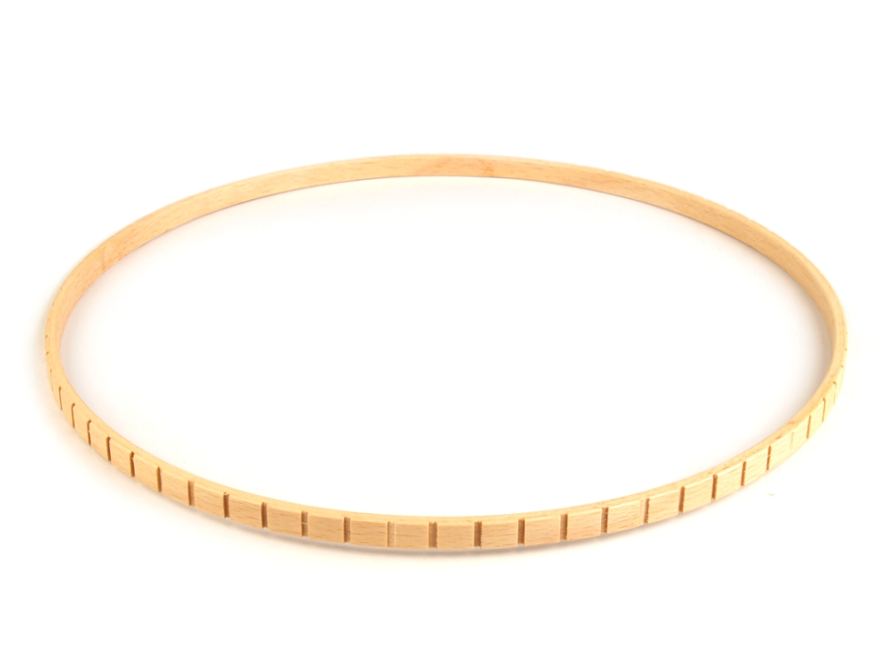 pro lapač snů dřev.kruh se zářezy 28,5cm vnější