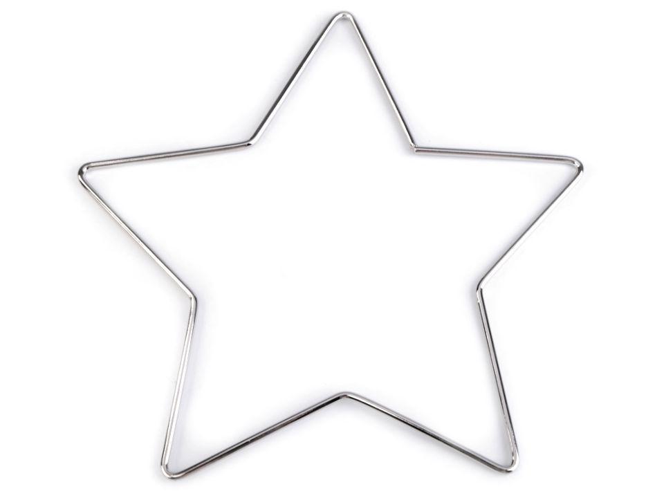 pro lapač snů kovová hvězda 20cm nikl