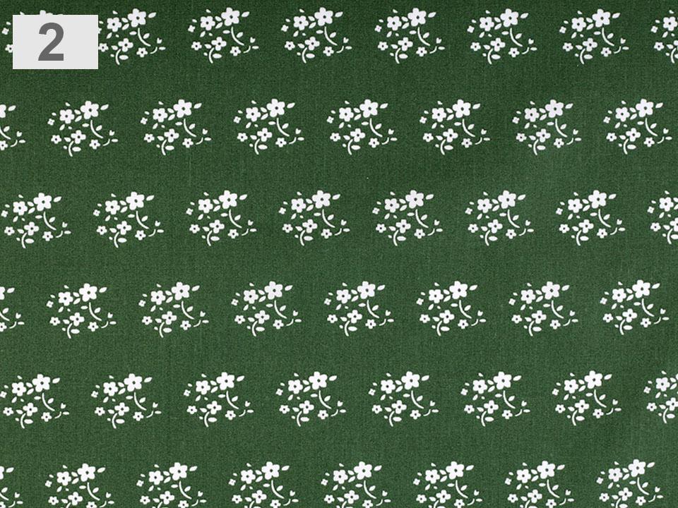 látka s květy 100%bavlna/š.140cm