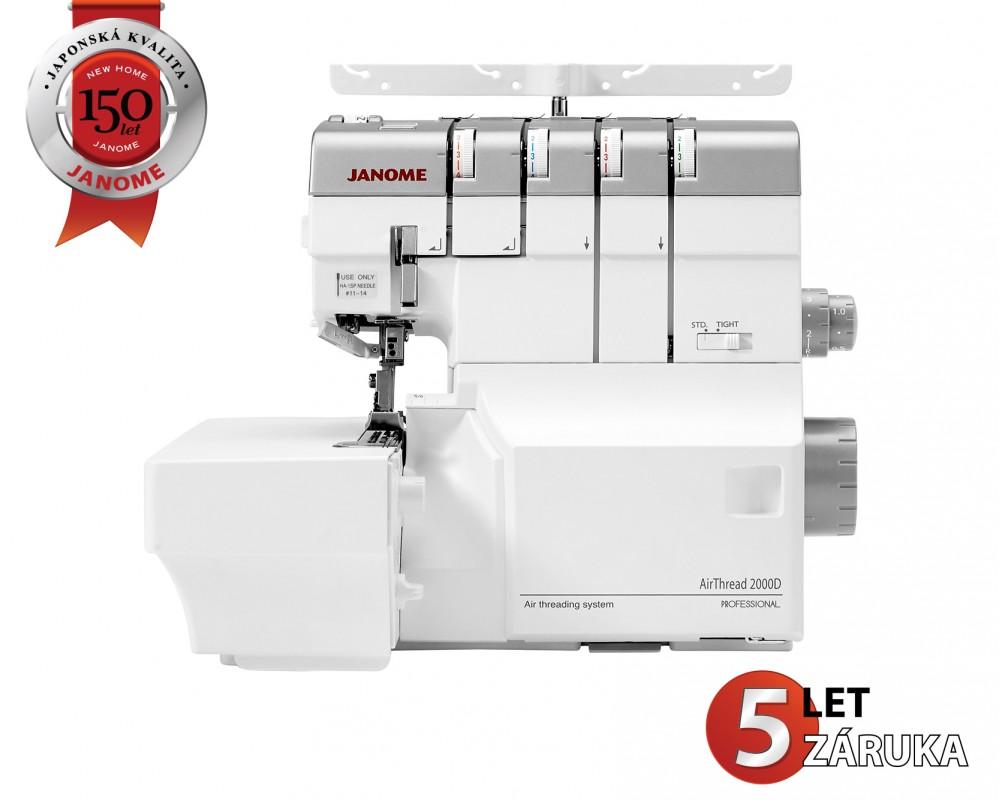 overlock Janome Air Threading 2000D  + sada kvalitních jehel Organ ZDARMA