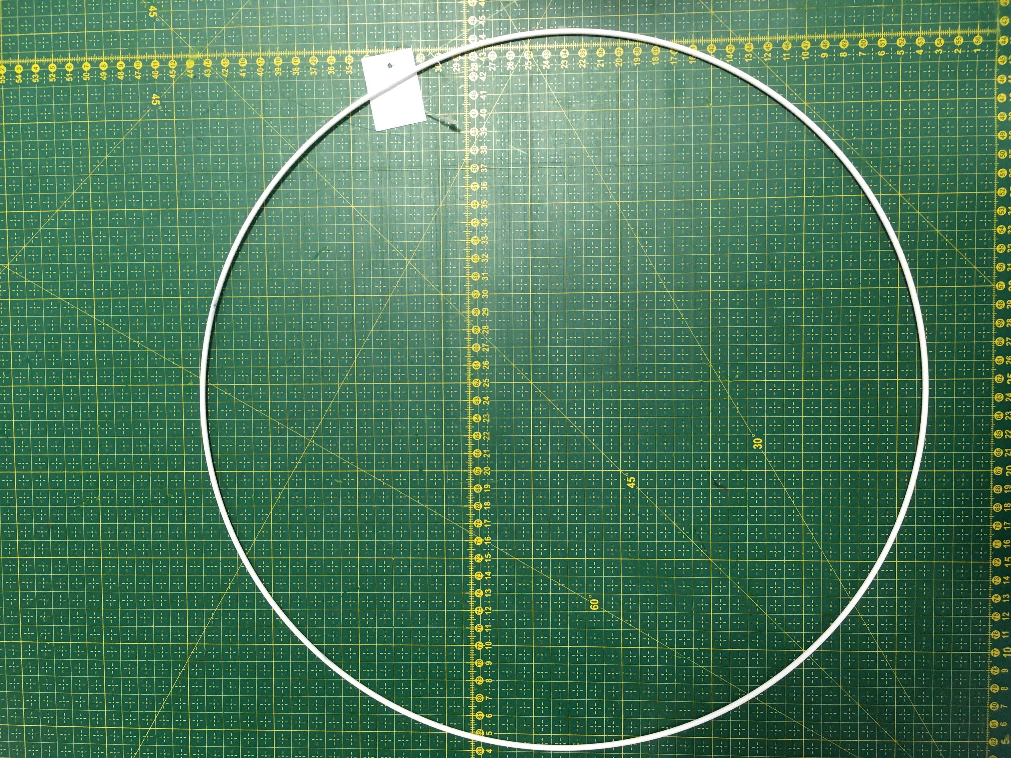 pro lapač snů kovový kruh 30cm bílý 3MM