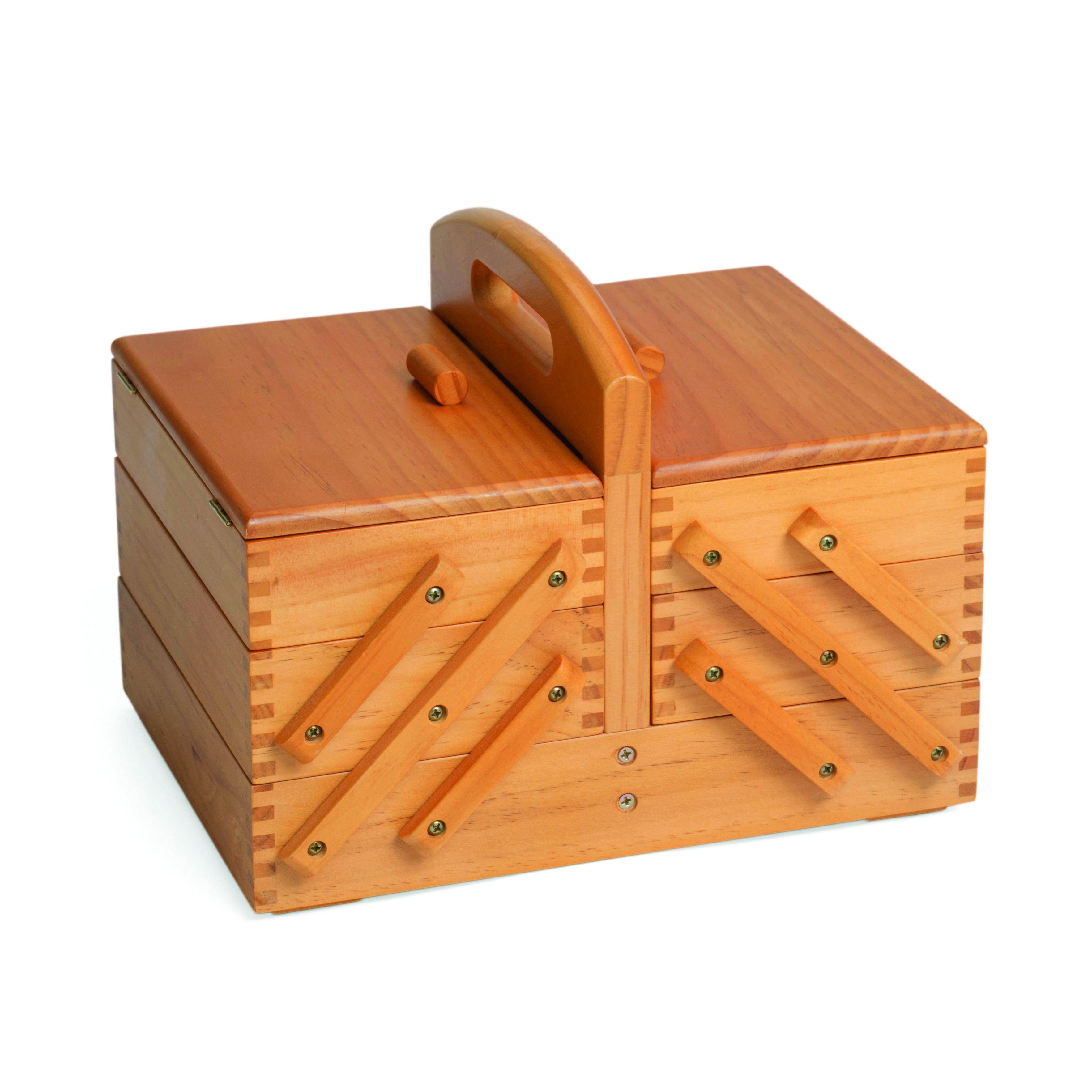 kazeta na šití dřevěná 31x23x24cm