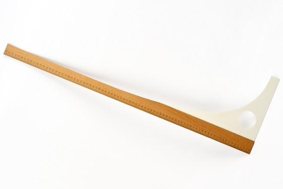 krejčovský příložník 80cm-dřevěný+plast (80x25)