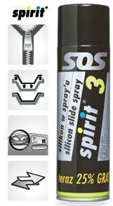 silikonový olej ve spreji-bezbarvý 500ml Spirit 3 Standart