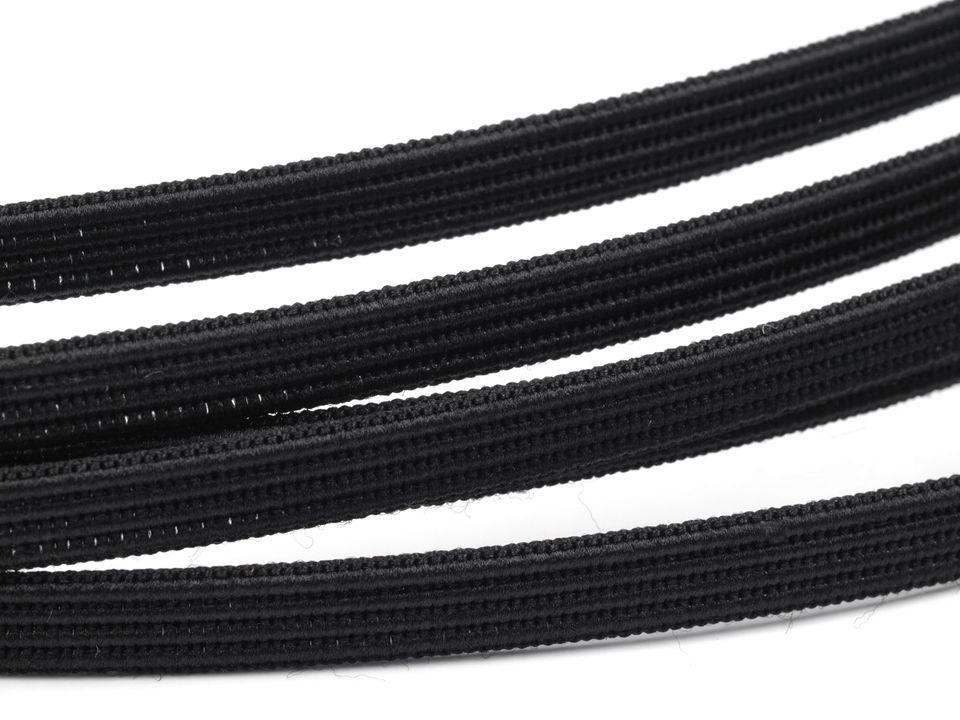kostice prošívací ozdobná šíře 6mm černá/bílá