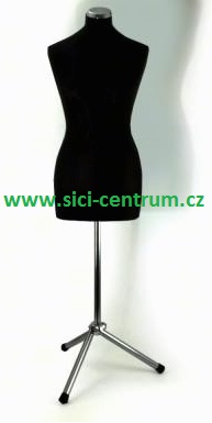 aranžérská panna černá vel.38 s kovovým stojanem