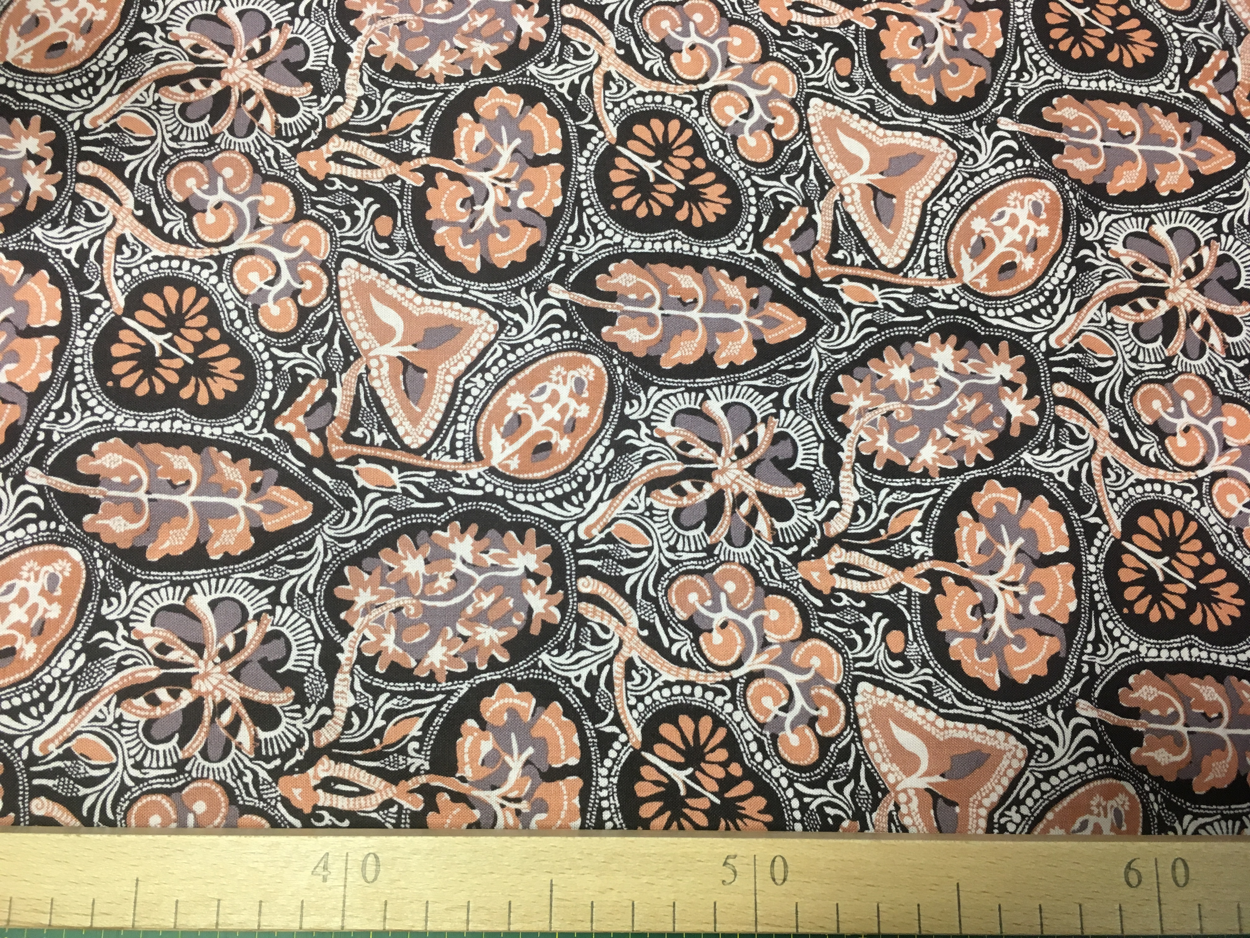látka bhandari-toraja-divia 100%bavlna 112cm šíře/rowan-1