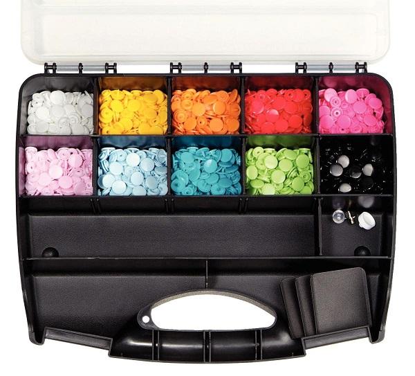 sada plastových patentku PRYM 300ks různé barvy-2