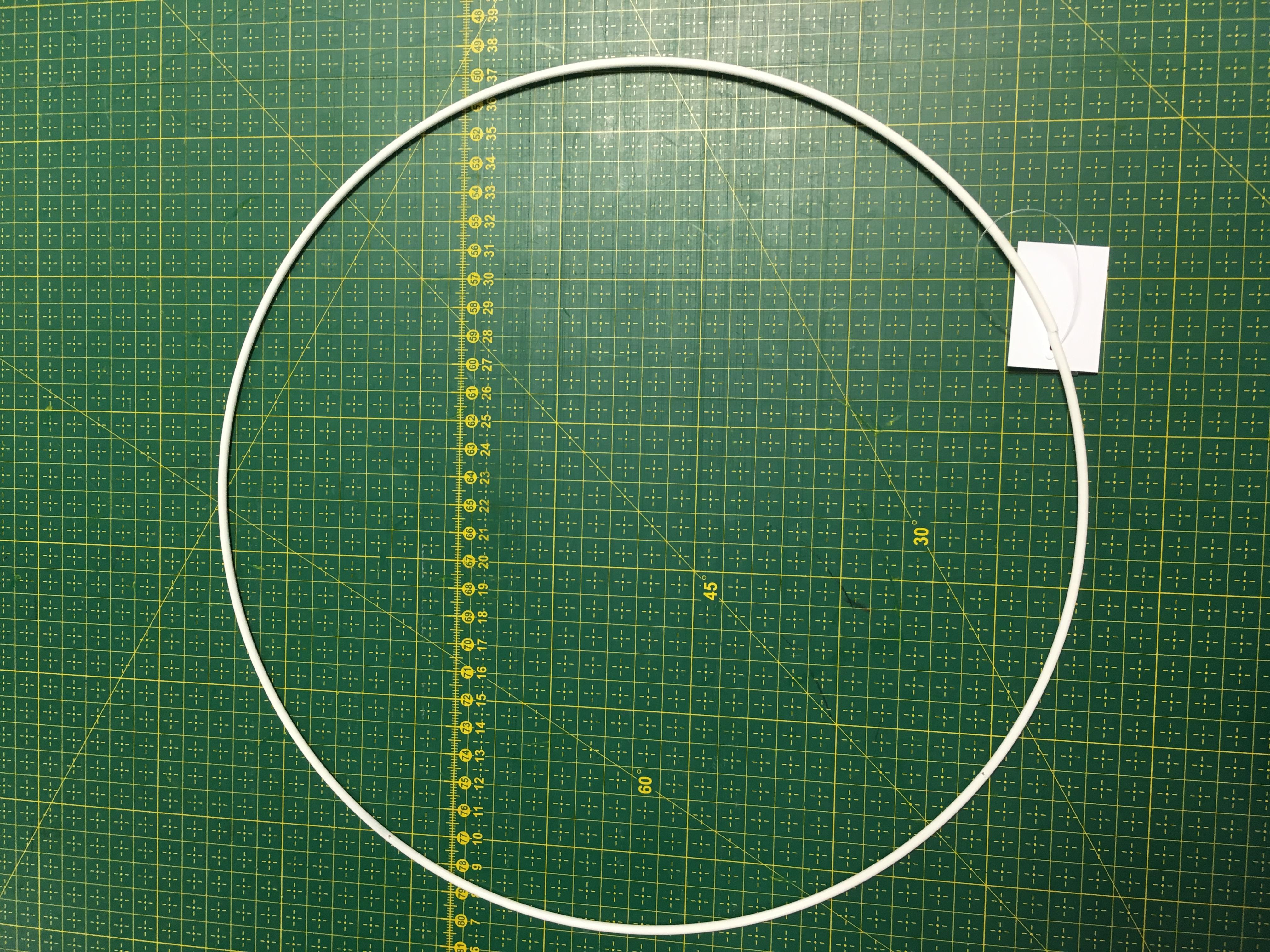 pro lapač snů kovový kruh 30cm bílý-1