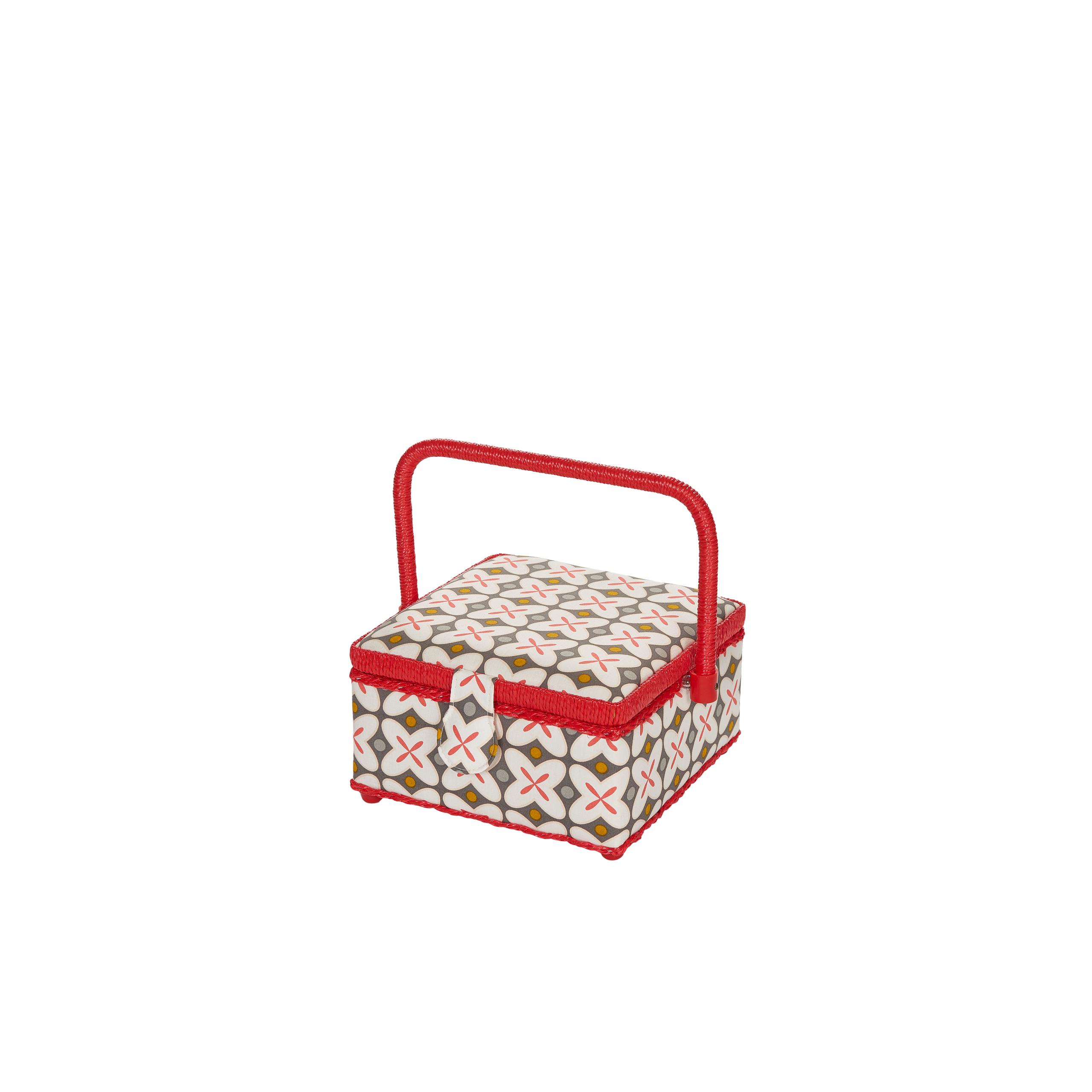kazeta - košík na šicí potřeby M Retro rot-1