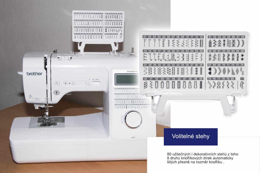 šicí stroj Brother Innov-Is A80 + sada kvalitních jehel Organ ZDARMA-1