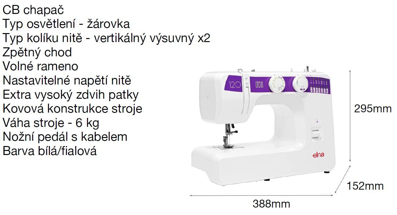šicí stroj Elna 120-4