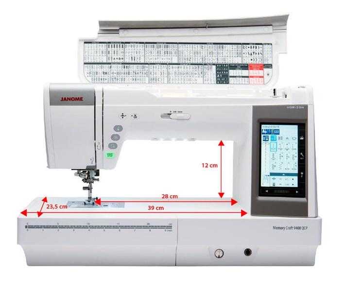 šicí stroj Janome MC 9400 QCP + dárek-1