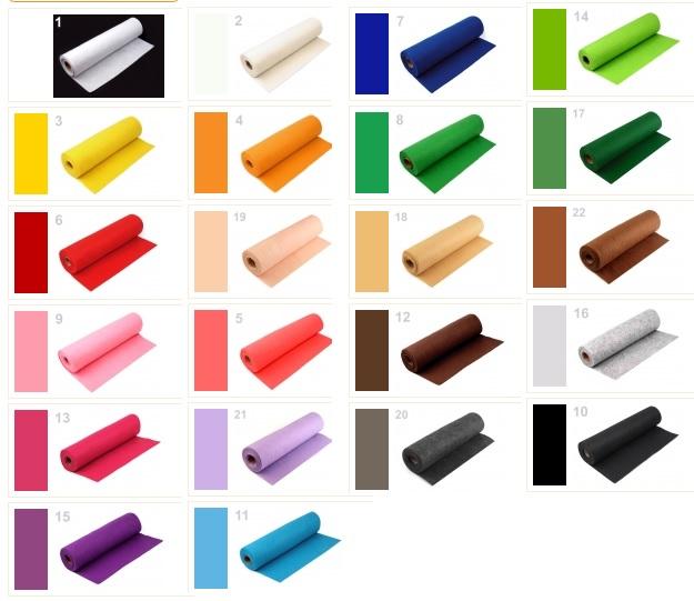 plsť LDC šíře 41cm mix barev metráž-1