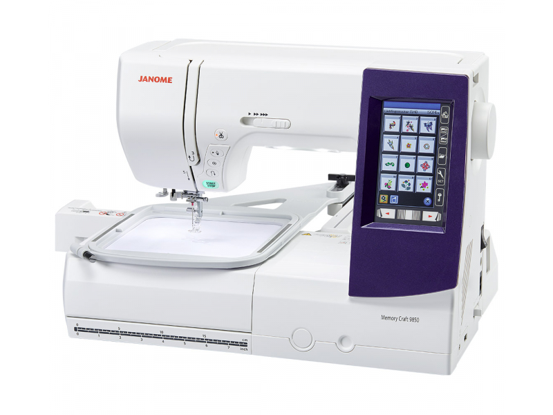šicí a vyšívací stroj Janome MC 9900 + vyšívací software Janome Jr. ZDARMA-2