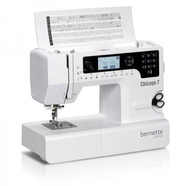 šicí a vyšívací stroj Bernette Chicago 7 + výšivky ZDARMA-1