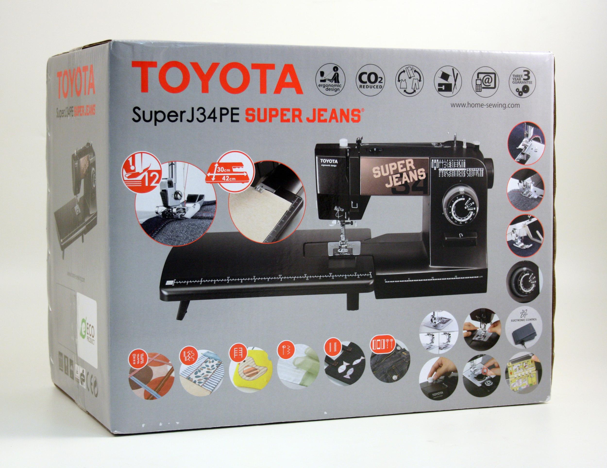 šicí stroj Toyota Super Jeans 34PE + stolek-3