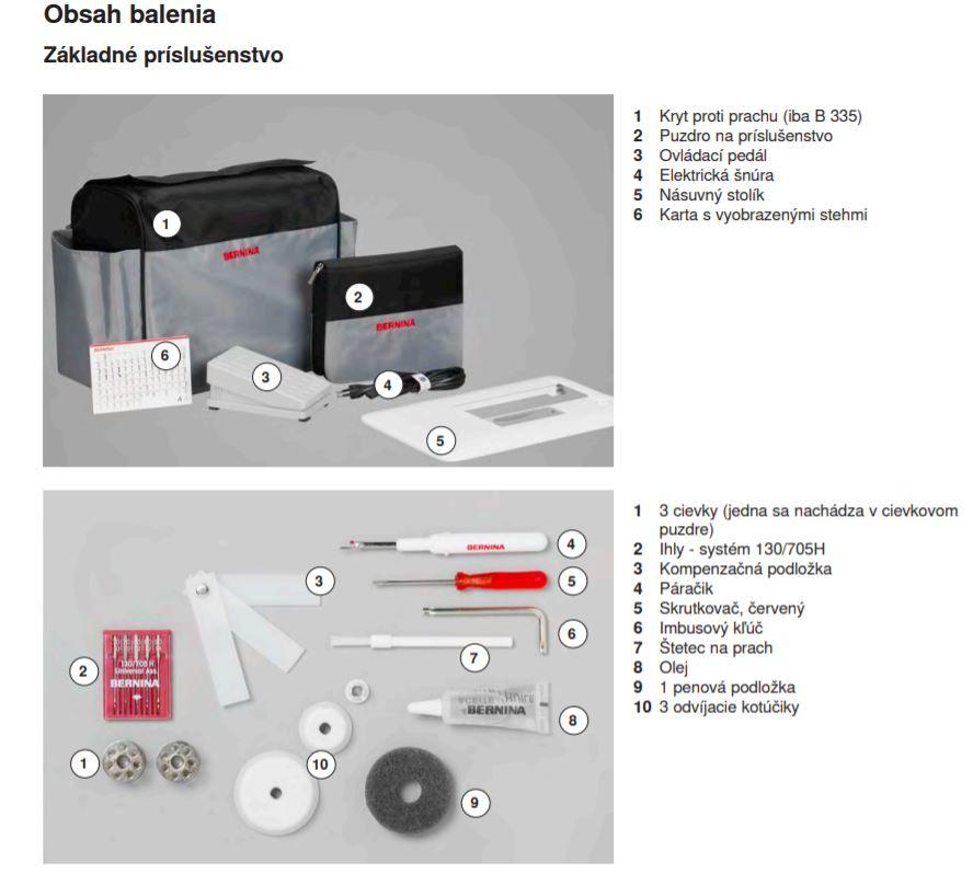 šicí stroj Bernina 335 + sada kvalitních jehel Organ ZDARMA -2