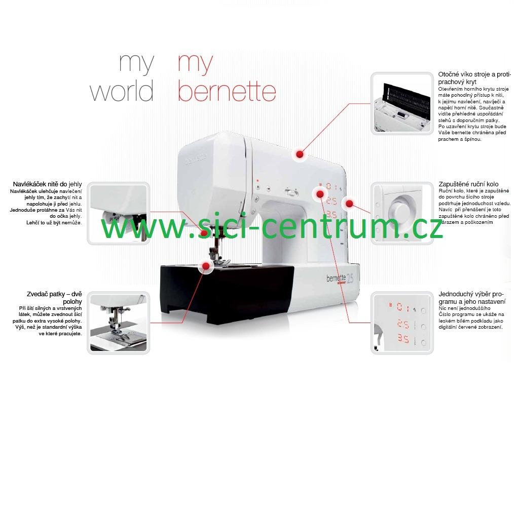 šicí stroj Bernette London 7 + dárek-1