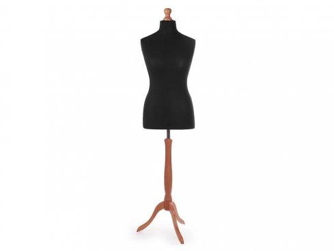 aranžérská panna, velikost 40-42 čermá + dřevený stojan třešeň