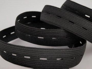 guma prádlová 15-17mm černá dirková