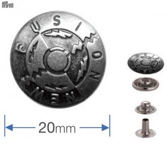 druk stiskací Anorak/WUK-20mm se vzorem 6ks