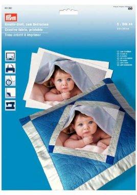 kreativní látka na vlastní fotografie 5ks formátu A4 (210x297mm) 100%bavlna, vhodné pouze pro inkoustovou tiskárnu