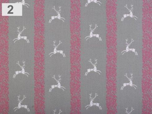 látka jeleni 100%bavlna,šíře 140cm,110g/m2