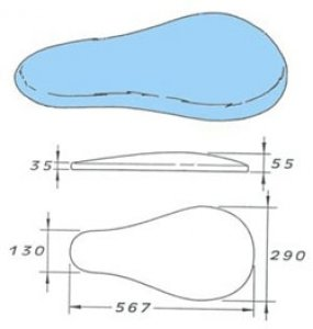 rukávník tvarovaný 567x130-290x55cm