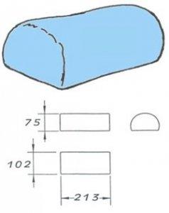 rukávník tvarovaný 102x213x75cm