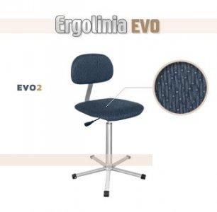 židle Ergolinia EVO2 polstrovaná pro oděvní průmysl