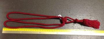 Ozdobná závěsová šňůra kroucená 55cm s úvazkem červená
