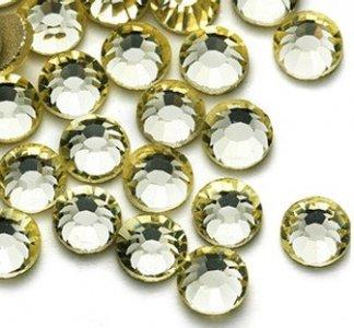 4mm nalepovací kameny broušené jonquil = světle žlutá
