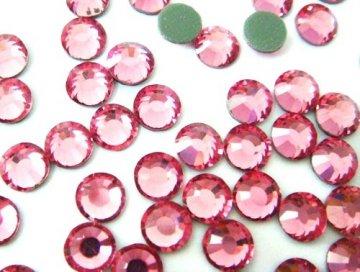 4mm nalepovací kameny broušené rose = růžová
