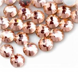 4mm nalepovací kameny broušené light peach