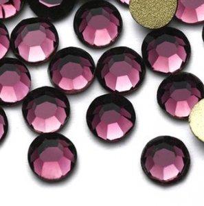 4mm nalepovací kameny broušené amethyst