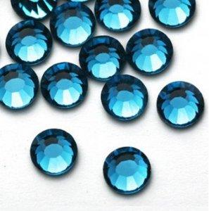 4mm nalepovací kameny broušené blue zircon