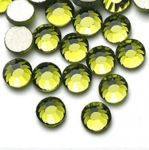 4mm nalepovací kameny broušené olivine = khaky
