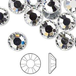 10mm nalepovací kamínky brus čiré 6ks