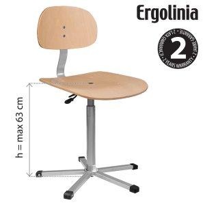 průmyslová otočná židle dřevěná Ergolinia EVO4