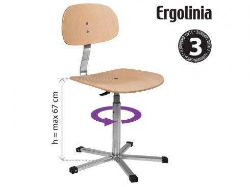 průmyslová otočná židle dřevěná Ergolinia 10004