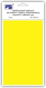 záplata nažehlovací žlutá 100%Bavlna 43x20cm