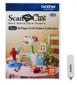 Kolekce vzorů 3D - CAUSB4 pro Brother ScanCut CM 840