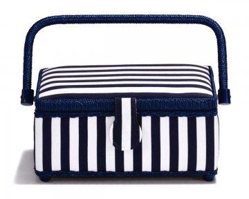 košík - kazeta na šicí potřeby Stripes