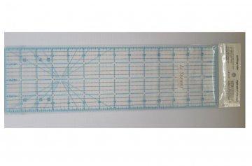 patchworkové pravítko 3,5x24 palců modročerné rysky
